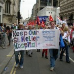 Keep Our St Helier Hospital campaigners take to the streets of London.