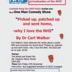 Diary date - One Man Comedy Show