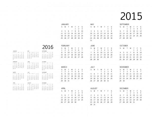 Calendar-black-text