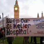 KOSHH campaigners stand with junior doctors