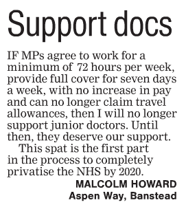 2016 02 11 - Epsom Guardian - Letter - Support Docs from Malcolm Howard