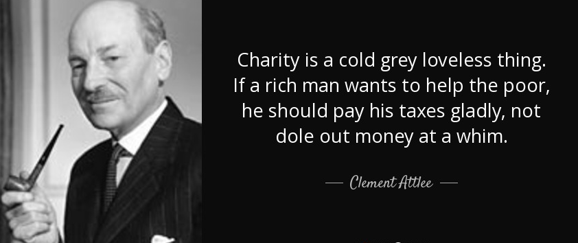 Clement Attlee - Charity