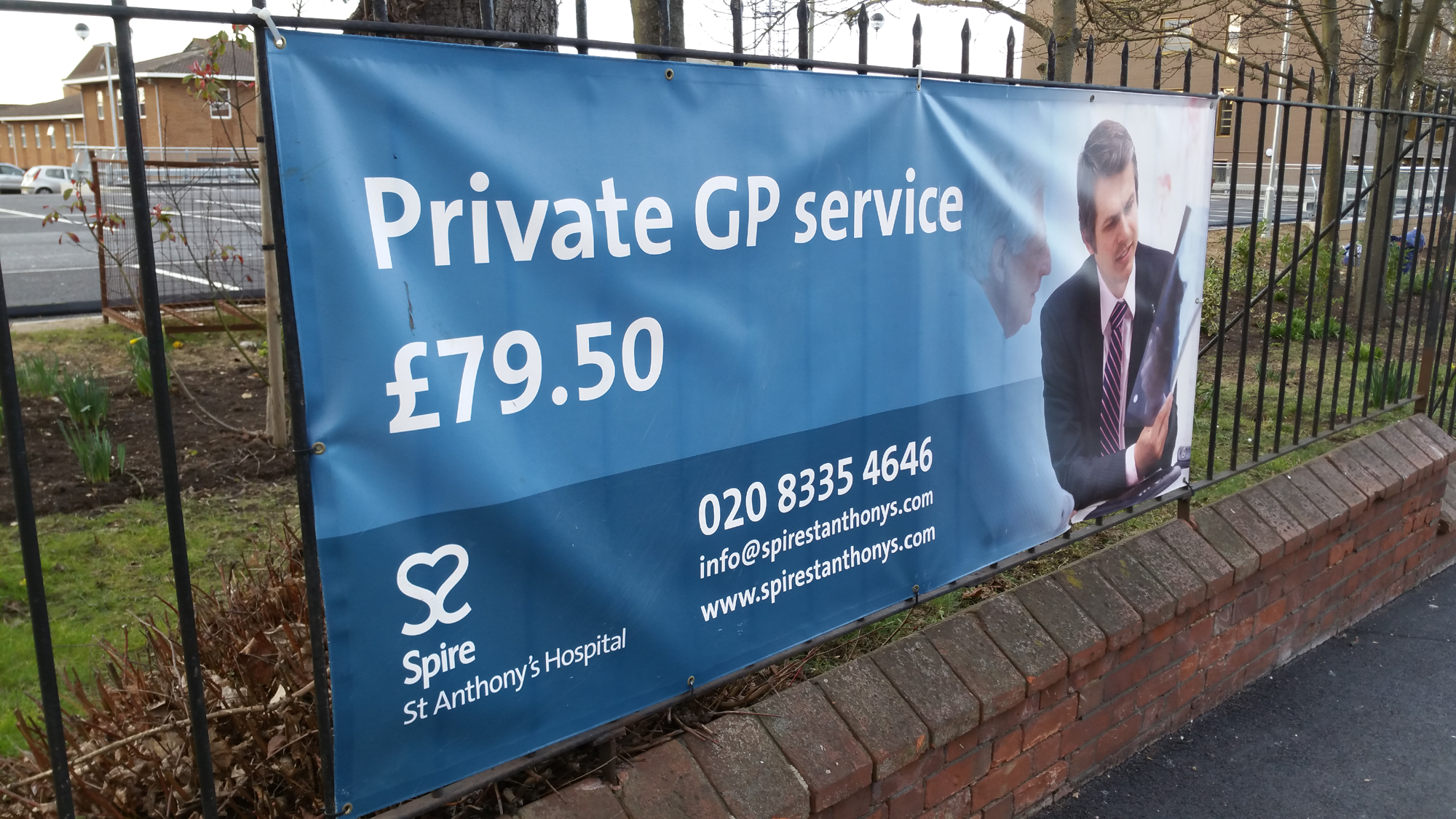 """Private GP Service £79.50"""