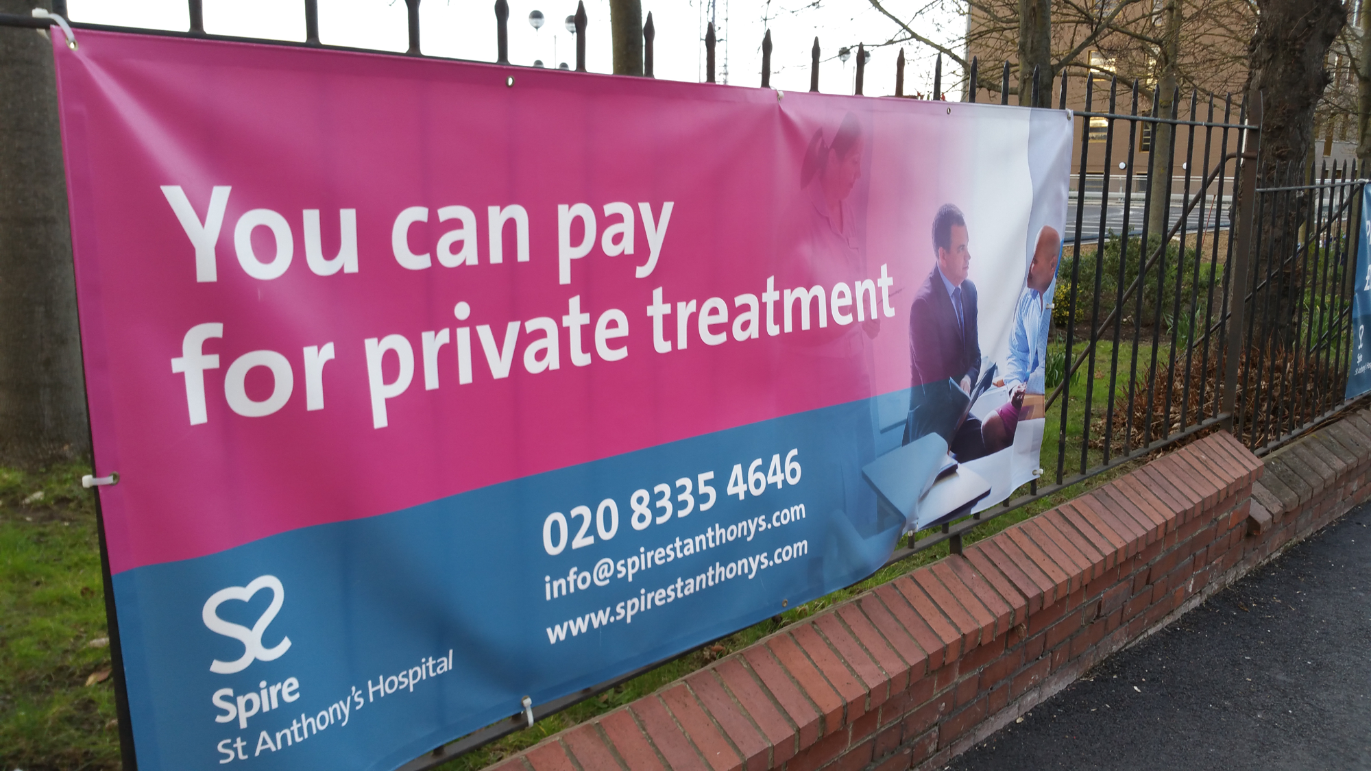 """You can pay for private treatment"""