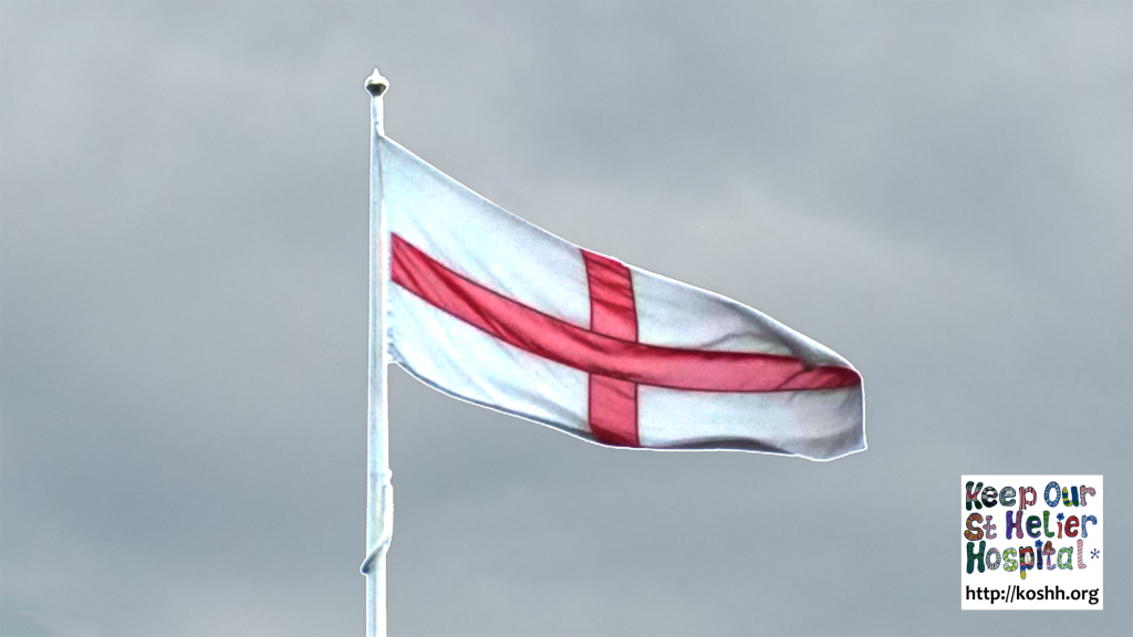 St George Cross Flag at St Georges Hospital