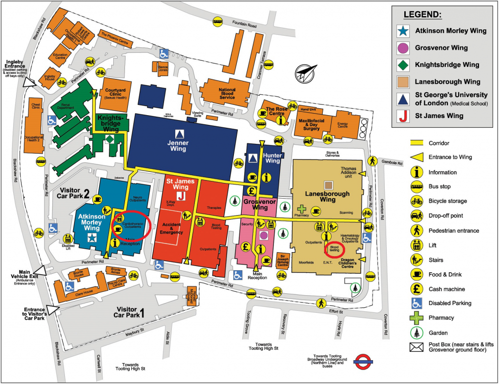 St Georges Hospital Map