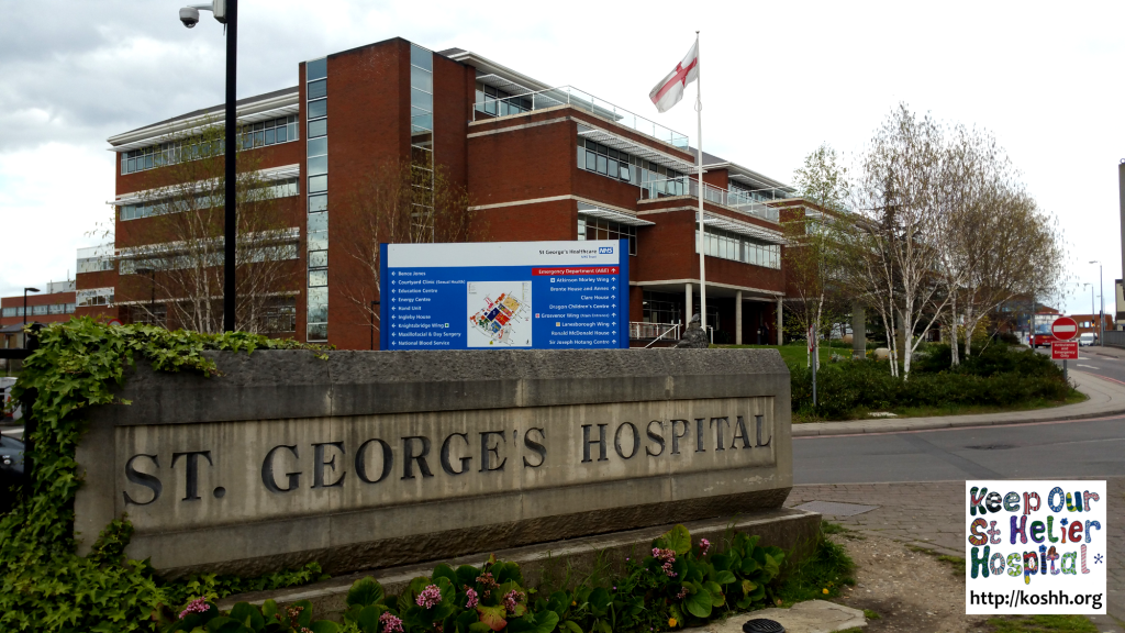 St Georges Hospital Sign