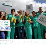 Green Wing stars to support junior doctors